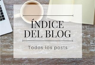 Índice del blog