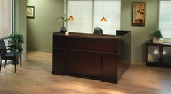 L Shaped Reception Desk by Mayline