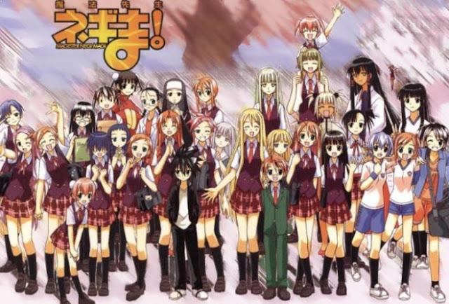 Mahou Sensei Negima - Daftar Anime Fantasy School Terbaik