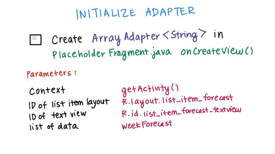 Dimensi TutupBotol: Initialize Adapter - Udacity Intermediate