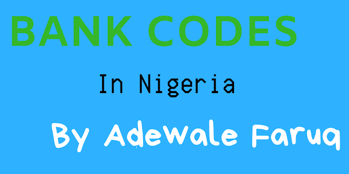 Banks Transactions Codes For Nigerians