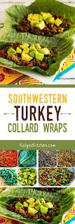 Southwestern Turkey Collards Wraps found on KalynsKitchen.com