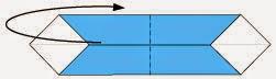 Bước 4: Gấp cạnh giấy về phía mặt sau tờ giấy.
