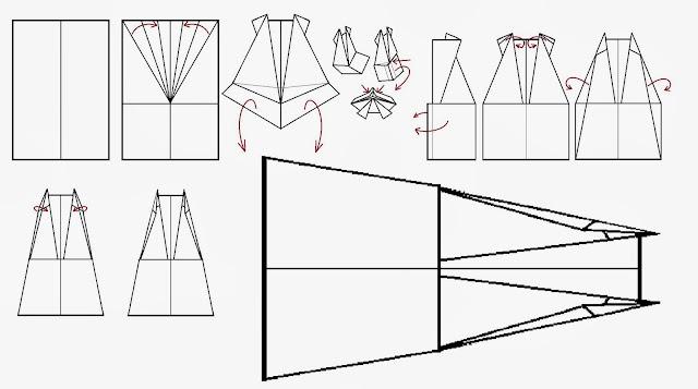 Avión de papel Wing 21