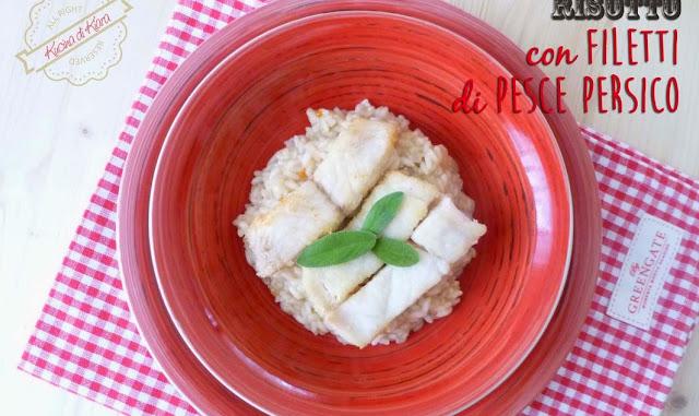 Risotto con filetti di pesce persico