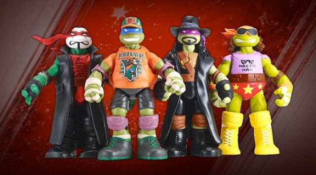 NYCC Teenage Mutant Ninja Turtles and WWE Crossover Action Figures