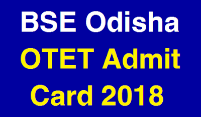 OTET Admit Card 2018