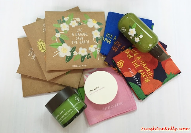 Use a Hankie, Save The Earth, innisfree, innisfree malaysia, korean skincare, jeju island, handkerchief