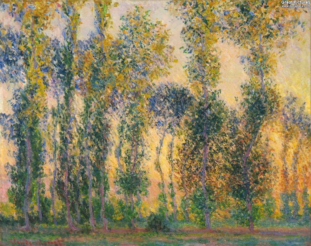Claude Monet Les peupliers à Giverny. 1887