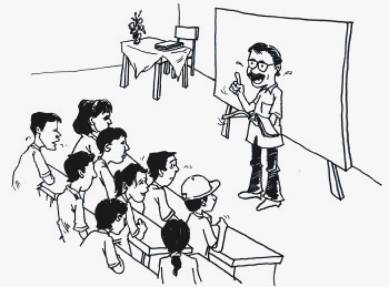 99 Gambar Guru Mengajar Animasi Hitam Putih Terbaru Cikimm Com