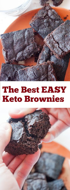 The Best EASY Keto Brownies #Brownies #ketobrownies #easydessert #ketodiet #cake #whole30 #dessert