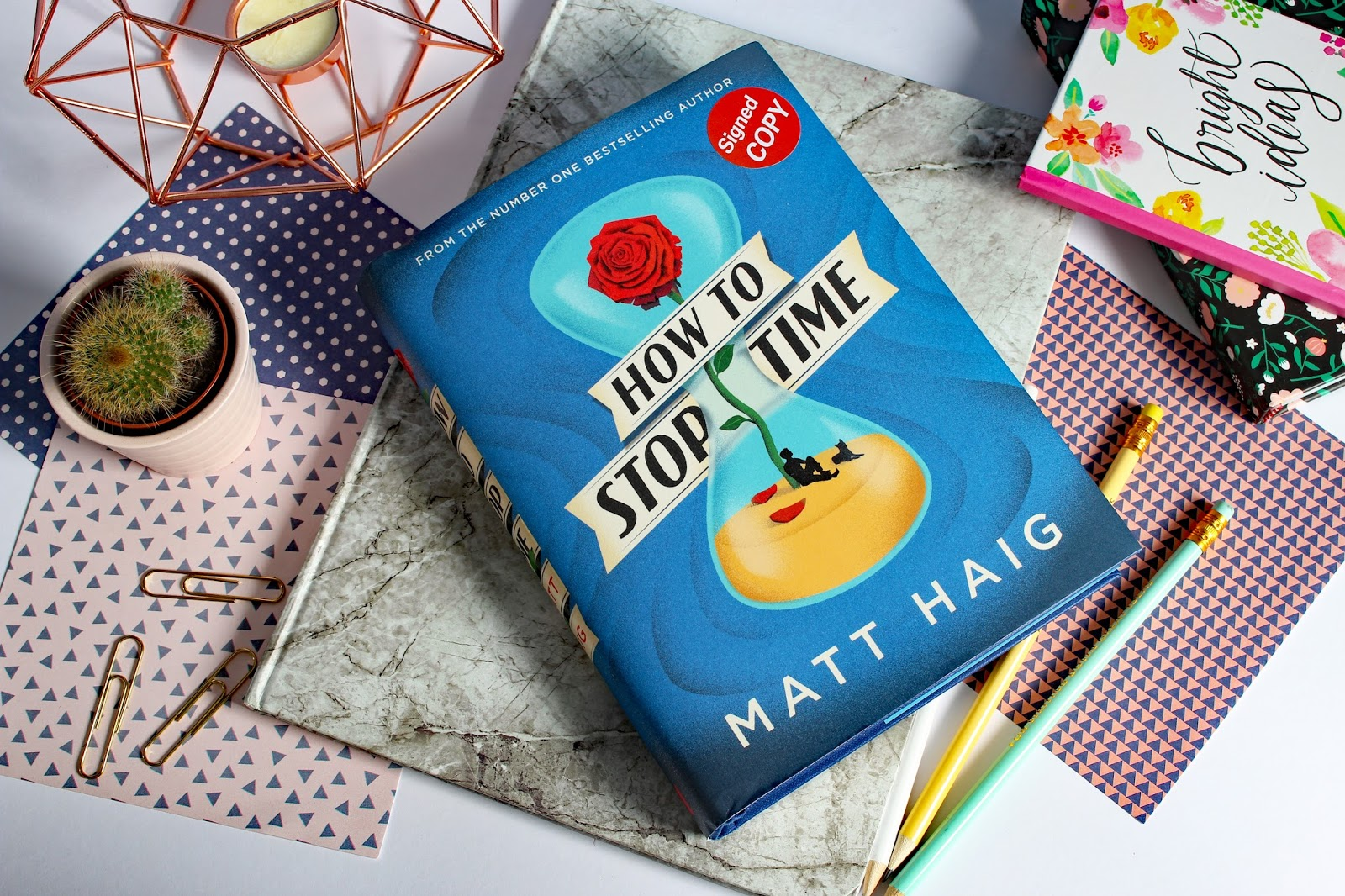 Mental Health Favourites (August 2017) How to stop time review book hardback Matt Haig