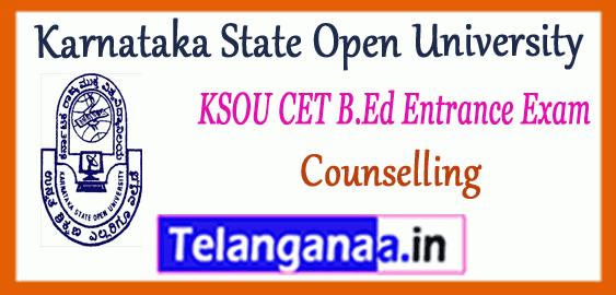 KSOU Karnataka State Open University CET B.Ed Entrance Results Counselling
