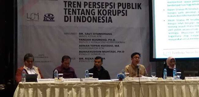 Lawan Korupsi, Publik Masih Unggulkan KPK Ketimbang Lembaga Kepresidenan