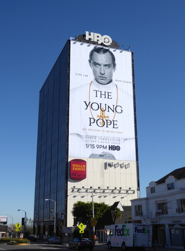Young Pope TV billboard Sunset Strip