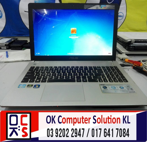 [SOLVED] SKRIN LAPTOP ASUS N56VZ | REPAIR LAPTOP DESA PANDAN 6