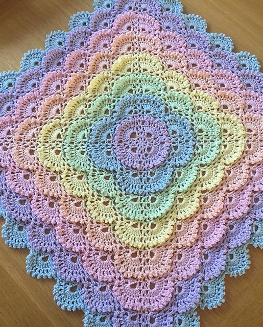 Shell Stitch Baby Blanket Free Pattern Yarn Crochet