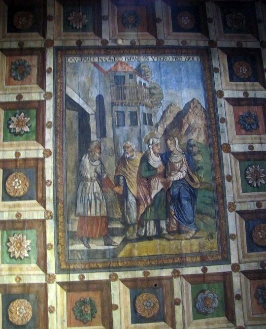Polichromia w kościele św. Jana Chrzciciela w Orawce.