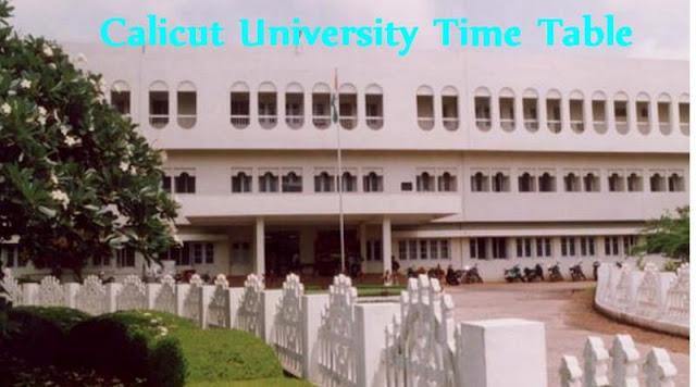 Calicut University Time Table