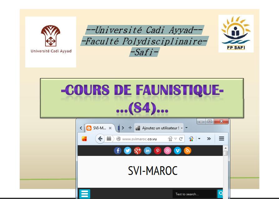 COURS DE FAUNISTIQUE S4 PDF