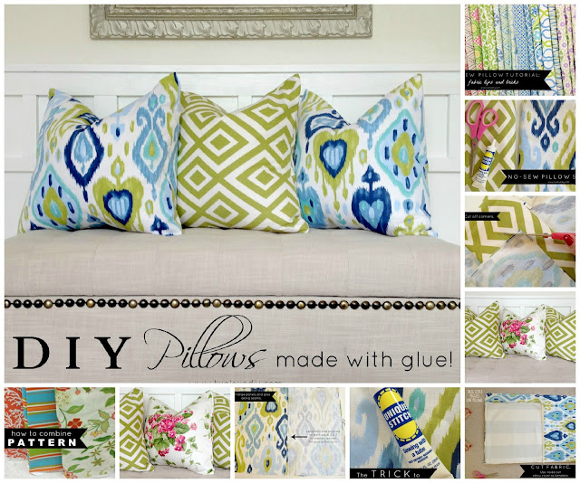 no sew washable toss pillows
