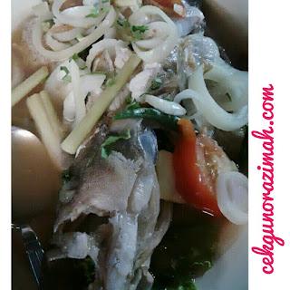 ikan kerapu masak stim, resepi ikan kerapu masak stim, cara membuat ikan kerapu masak stim, bahan-bahan untuk kerapu masak stim