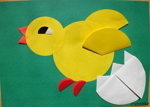 paper crafts for kids easy chick