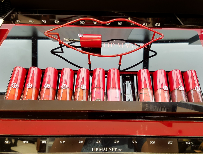 Giorgio Armani Lip Magnets Liquid Lipsticks - Swatches