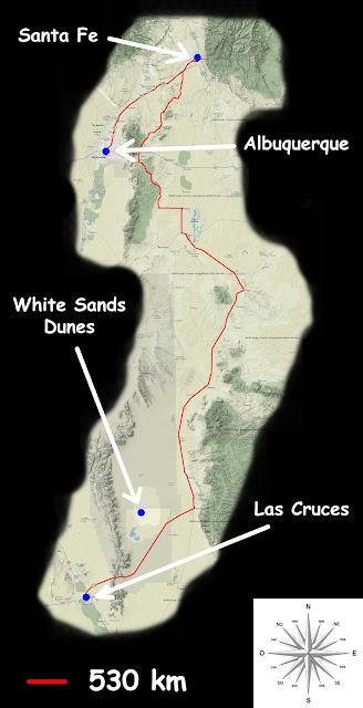 Mon parcours Albuquerque -> Las Cruces