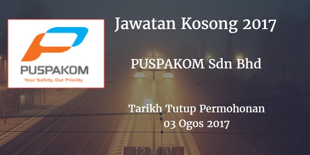 Jawatan Kosong PUSPAKOM Sdn Bhd 03 Ogos 2017