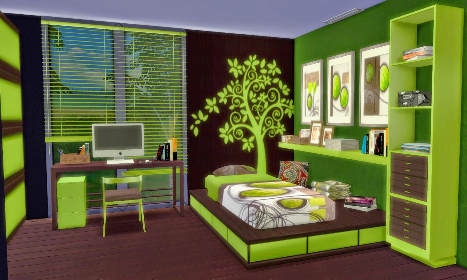 Bedroom bilbao sims 4 custom content for Dormitorio sims 4