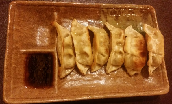vegetable gyoza, asahi roll, rogers park, chicago, sushi