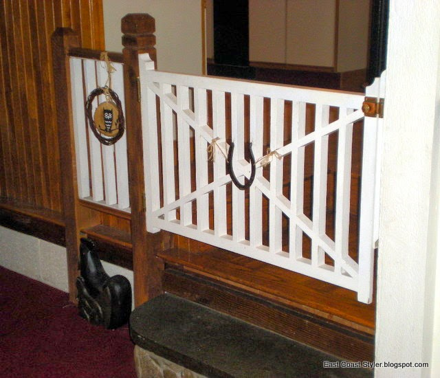 DIY Wood dog Baby gate