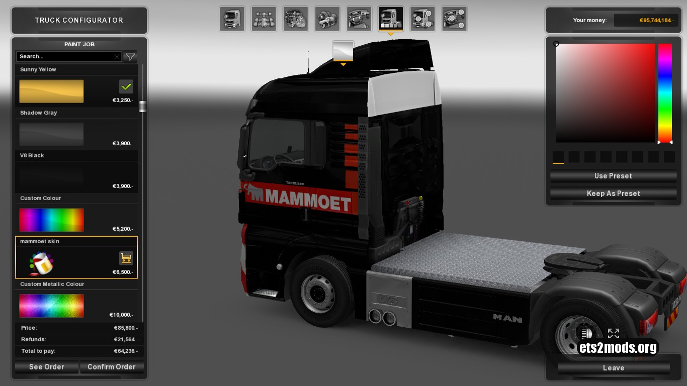 Mammoet Skin for MAN TGX