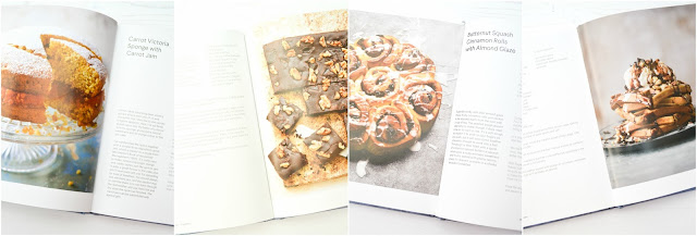 Shots from inside the cookbook Veggie Desserts + Cakes by Katherine Hackworthy