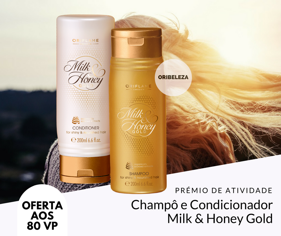 Champô e o Condicionador Milk & Honey Gold