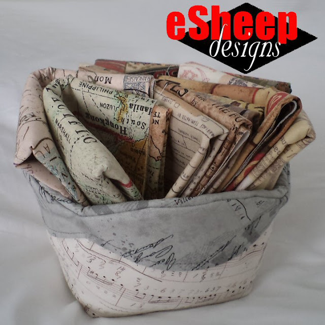Scalloped Edge Basket crafted by eSheep Designs