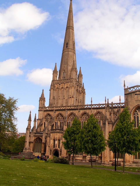 Picture of St Mary Redcliffe where Richard Rose was baptised in 1810