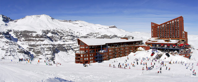 Valle Nevado Ski Center near Santiago, Chile.