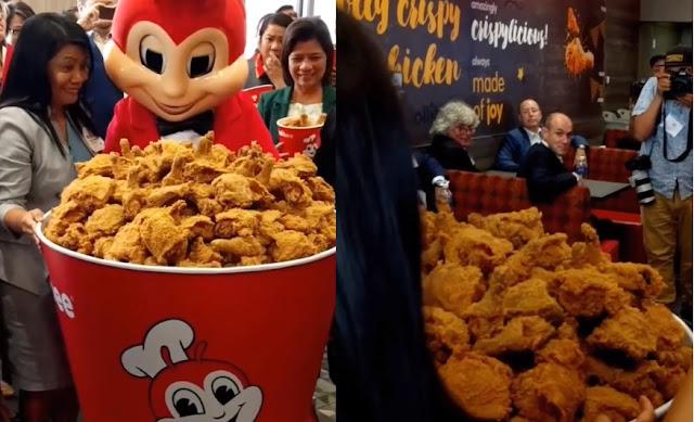 Jollibee Brought The Biggest Chicken Joy Bucket Ever Elinkterest