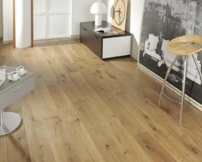 Sàn gỗ tự nhiên thuộc gam màu sáng