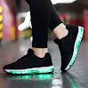 VENSHINE Mens & Womens Light Up Shoes Lightweight Air Cushion LED Flashing Fashion Sneakers