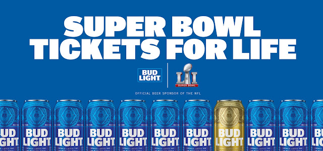 BUD LIGHT SUPER BOWL TIX FOR LIFE SWEEPSTAKES