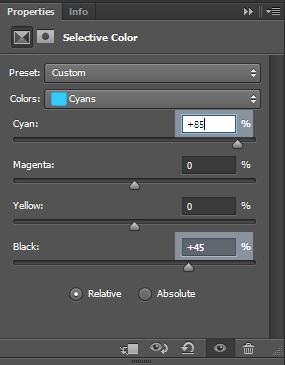 Cyan-color-settings
