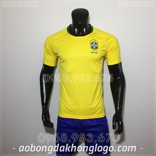 Áo Bóng Đá Đội Tuyển Brazil Vàng 2019
