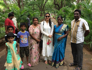 Keerthy Suresh in White Dress with Family Fanz 1