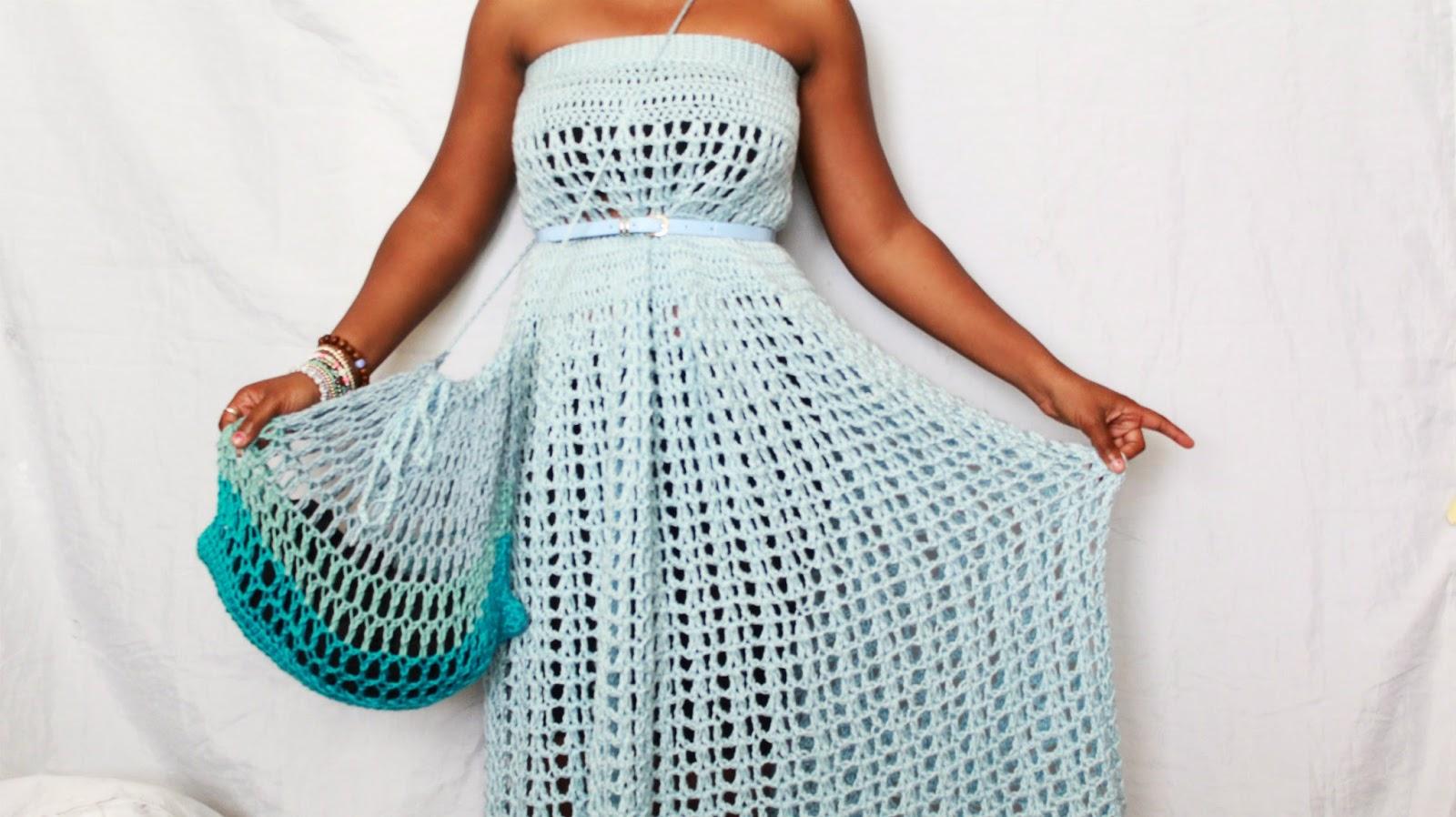 the dream crochet blog.: DIY // How To Crochet Summer Drawstring Bag ...