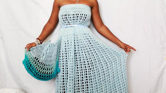 DIY // How To Crochet Summer Drawstring Bag. Free Crochet Pattern!