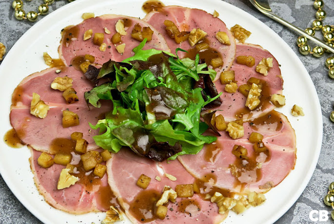 Recept Eendenborstsalade met een dressing met Maastrichtse kruisbessenjam