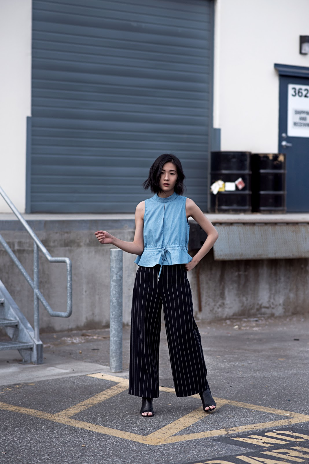 claire liu self portrait von vogue cmeo collective zara pants sam edelman shoes